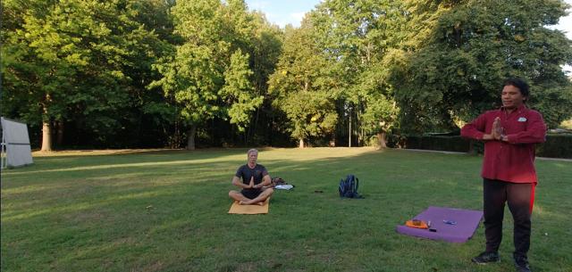 Chandra im Park